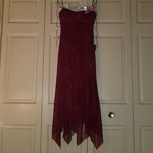 NWOT S/M Burgandy Spaghetti Strap Dress